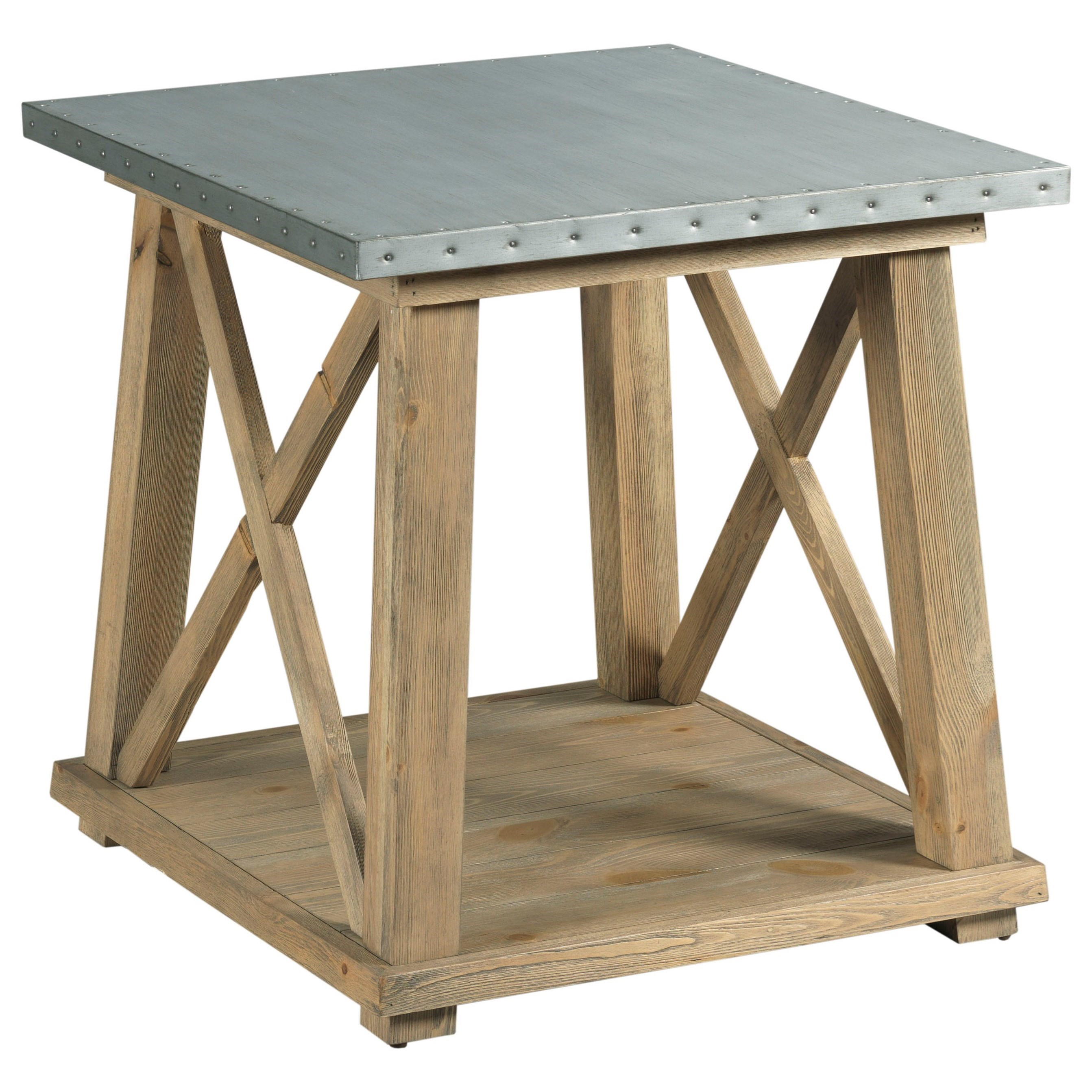 Junction Truss End Table by Hammary at Johnny Janosik