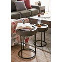 Hammary Junction Small & Large Timber Round Tray Table