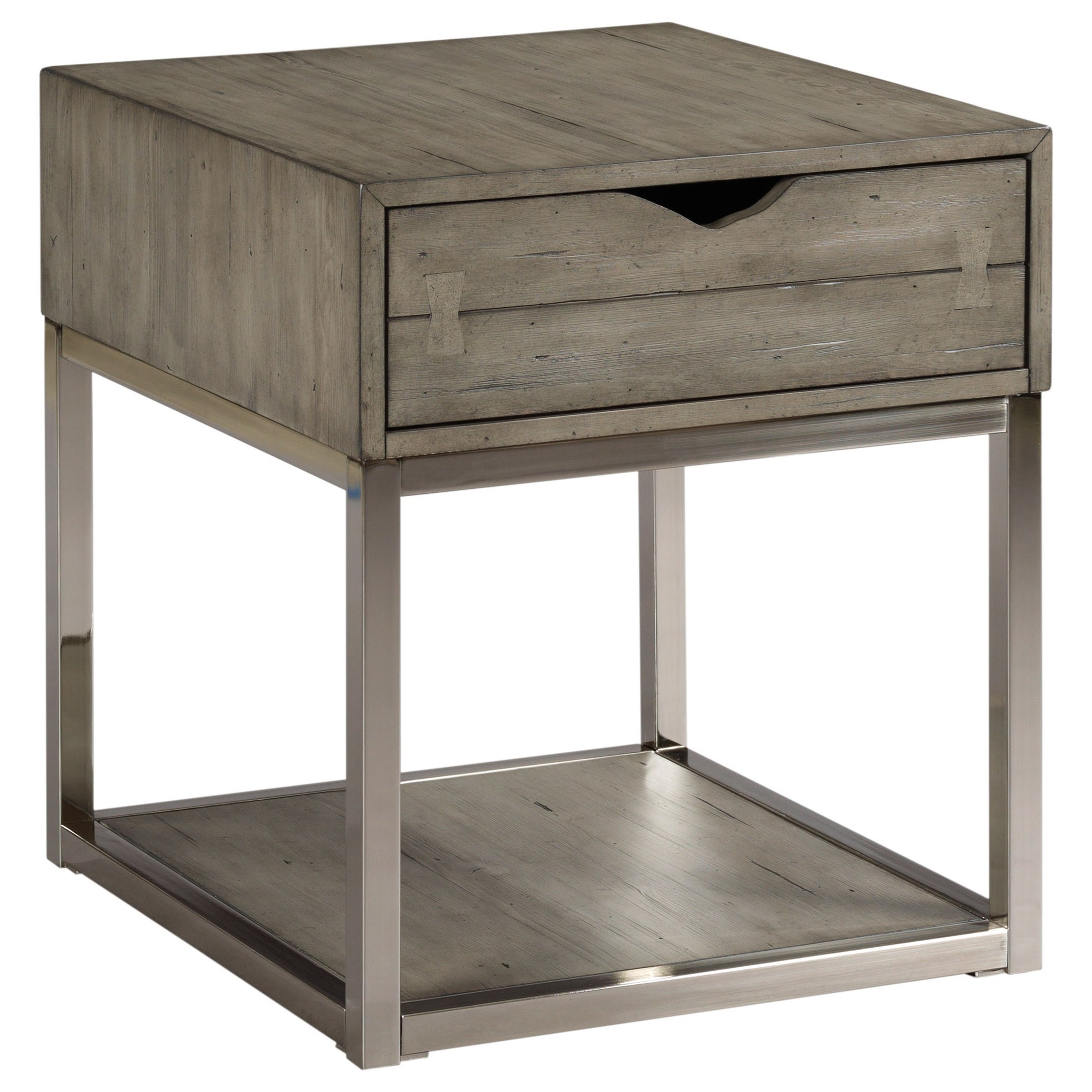 Lakeland Rectangular Drawer End Table by Hammary at Stoney Creek Furniture