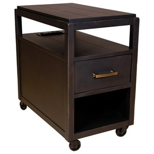Hammary Marlowe Charging Chairside Table