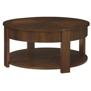 Hammary Maxim Round Lift Top Cocktail Table With Storage Ahfa Cocktail Or Coffee Table