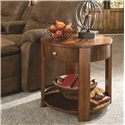 Hammary Maxim Round Wood End Table with Storage - 287-918
