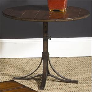 Hammary Mercantile Round Adjustable Accent Table