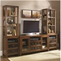 Morris Home Furnishings Mercantile Entertainment Wall Unit - Item Number: 050-946+2x947B+2x947T