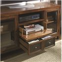 Morris Home Furnishings Mercantile 54-Inch Entertainment Console with Two Glass Doors & Two Drawers - Doors, Drawers, and a Component Cubbyhole Provide Ample Organization Space