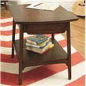 Hammary Mila Rectangular End Table with 1 Drawer and 1 Shelf