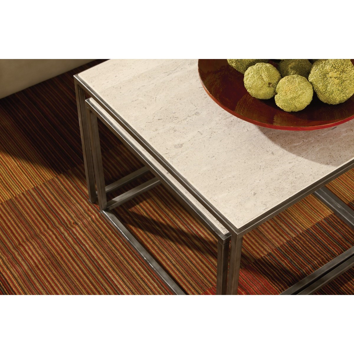 Bronze Nesting Coffee Tables: Hammary Modern Basics Rectangular Cocktail Table With