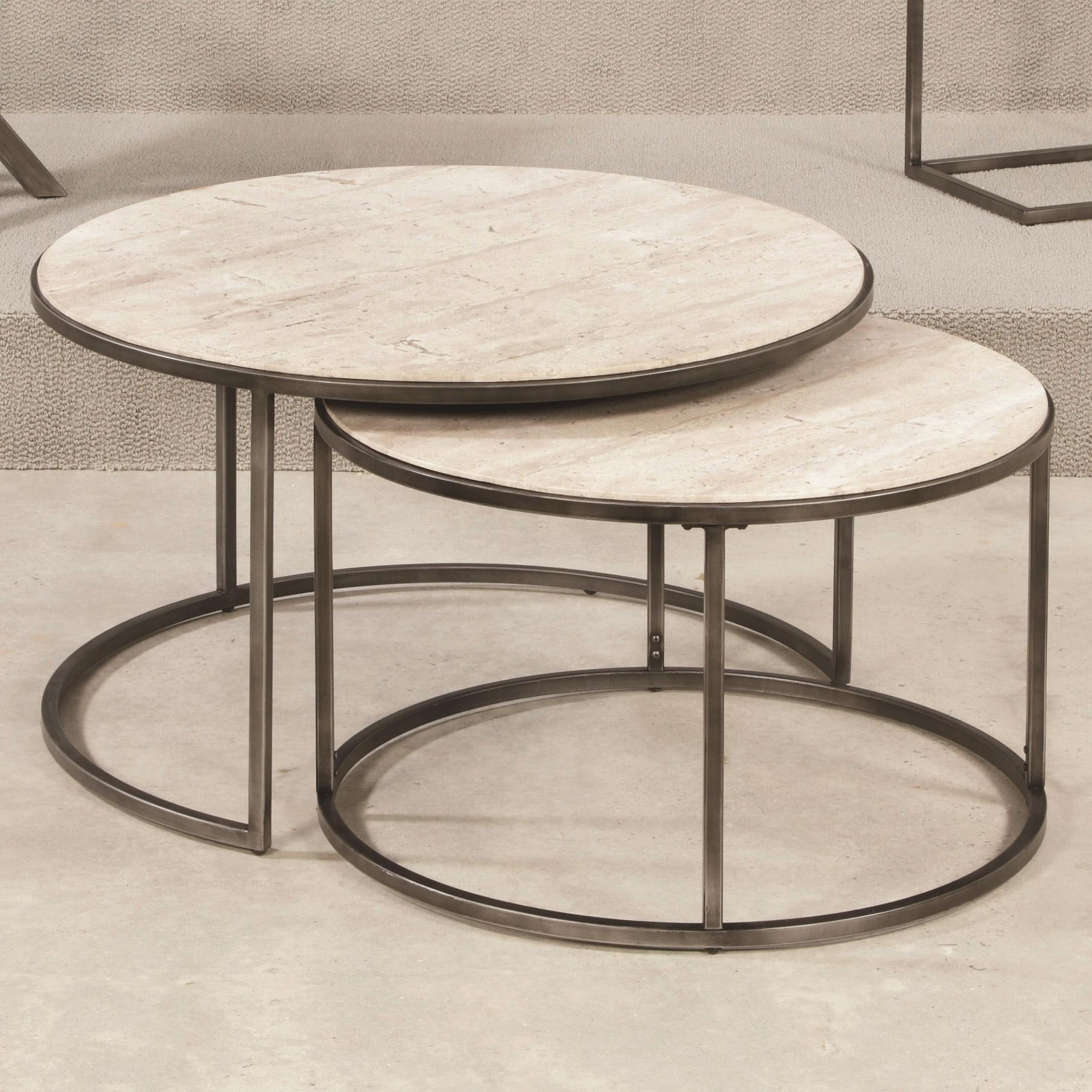 Hammary Modern Basics Round Tail Table With Nesting Tables Ahfa Occasional Group Dealer Locator