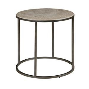 Morris Home Furnishings Modern Basics Loretto Round End Table