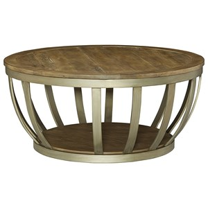 Hammary Modern Theory  Round Cocktail Table