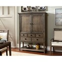 Hammary Park Studio Contemporary Bar Cabinet with Bottle Storage and Pull-Out Shelf