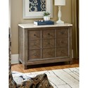 Hammary Park Studio Contemporary Apothecary Hall Chest with Polished Travertine Stone Top