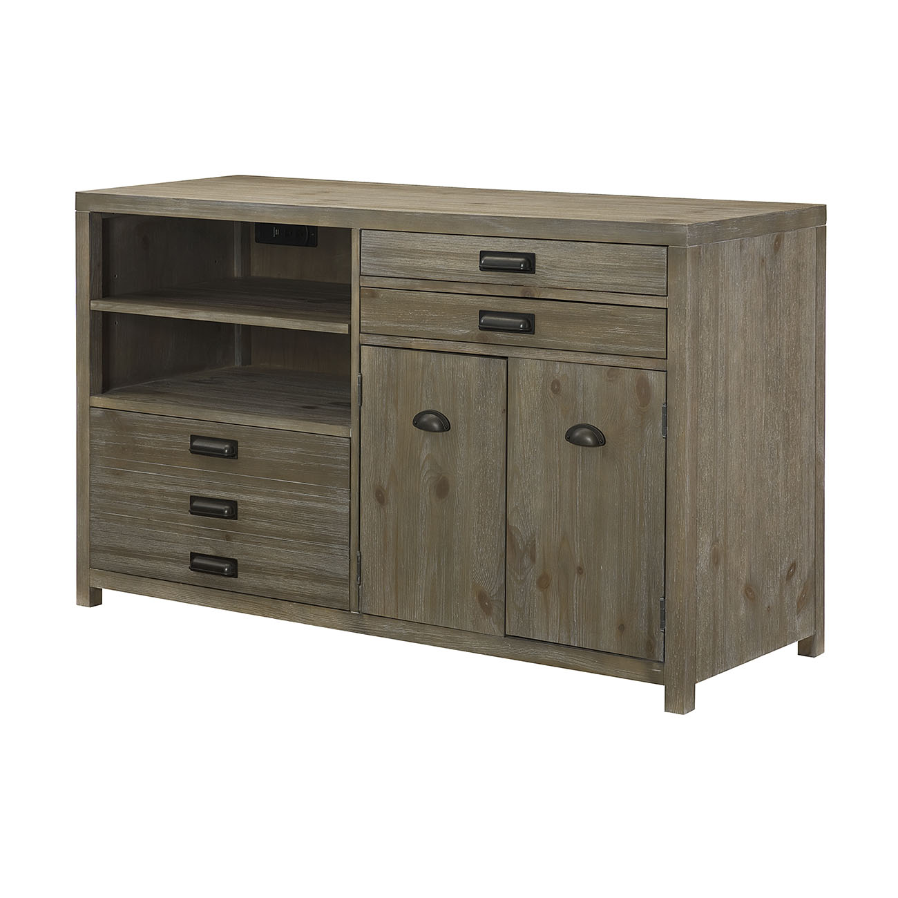 Parsons Credenza Desk by Hammary at Stoney Creek Furniture