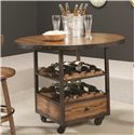 Hammary Americana Home High Dining Table with Wine and Bottle Storage - 114-706R