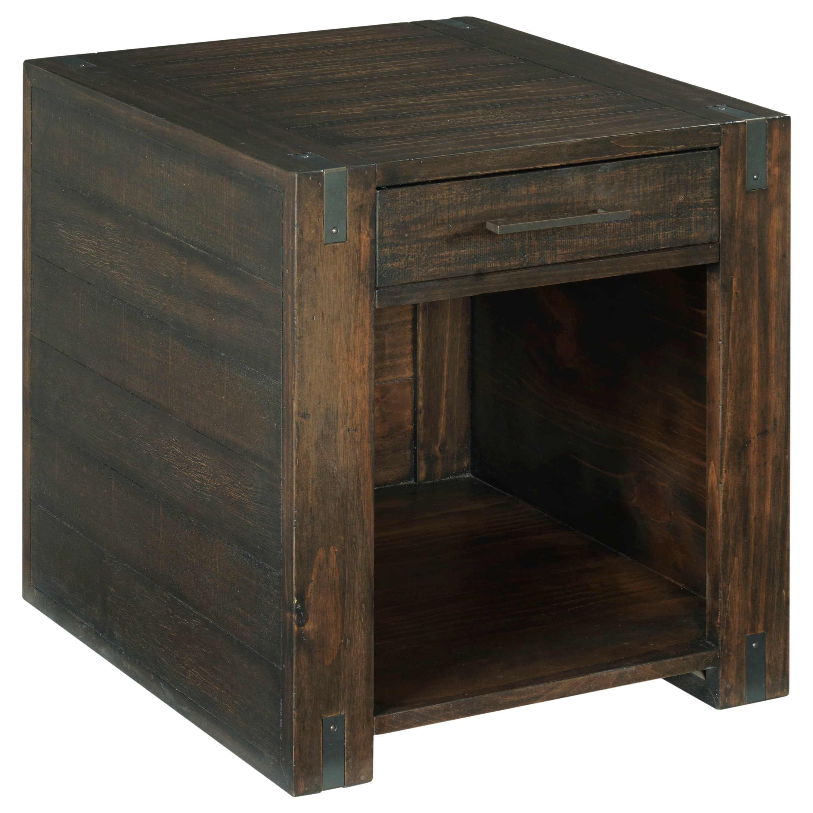 Hammary Portman Casual Rectangular End Table With Drawer And Shelf Lindy S Furniture Company End Tables