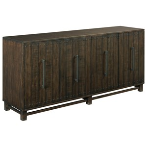 Portman Casual Entertainment Console with Adjustable Shelves by Hammary