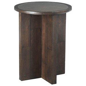 Hammary Reclamation Place Post & Beam Round End Table