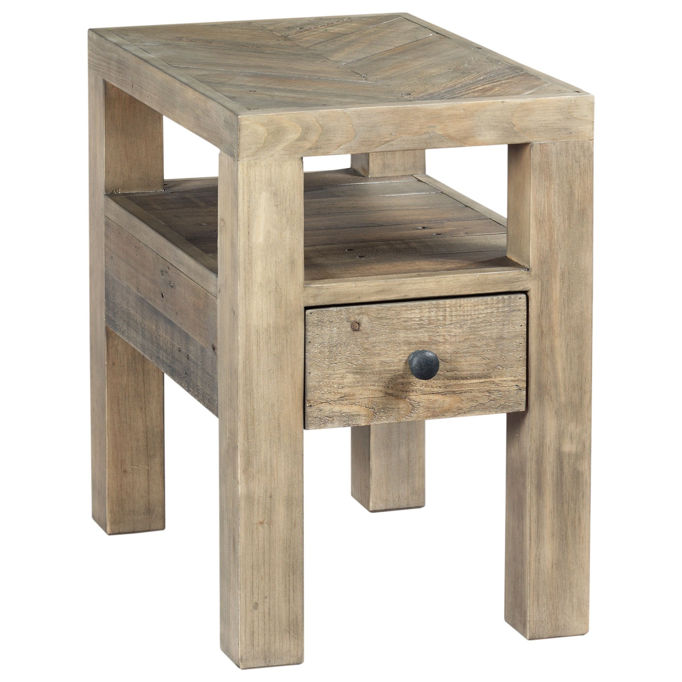 Reclamation Place Chairside Table by Hammary at Red Knot
