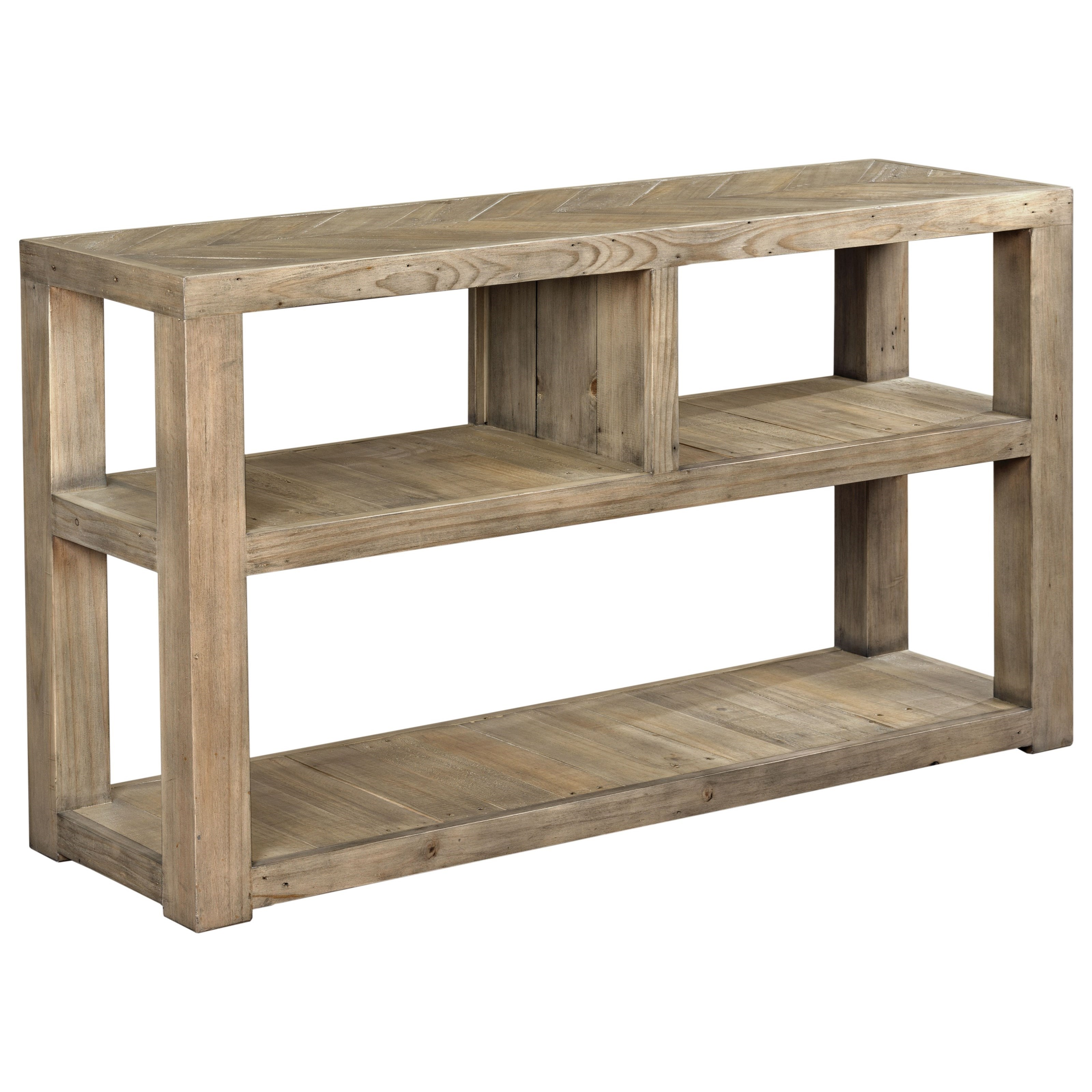 Reclamation Place Sofa Table by Hammary at HomeWorld Furniture