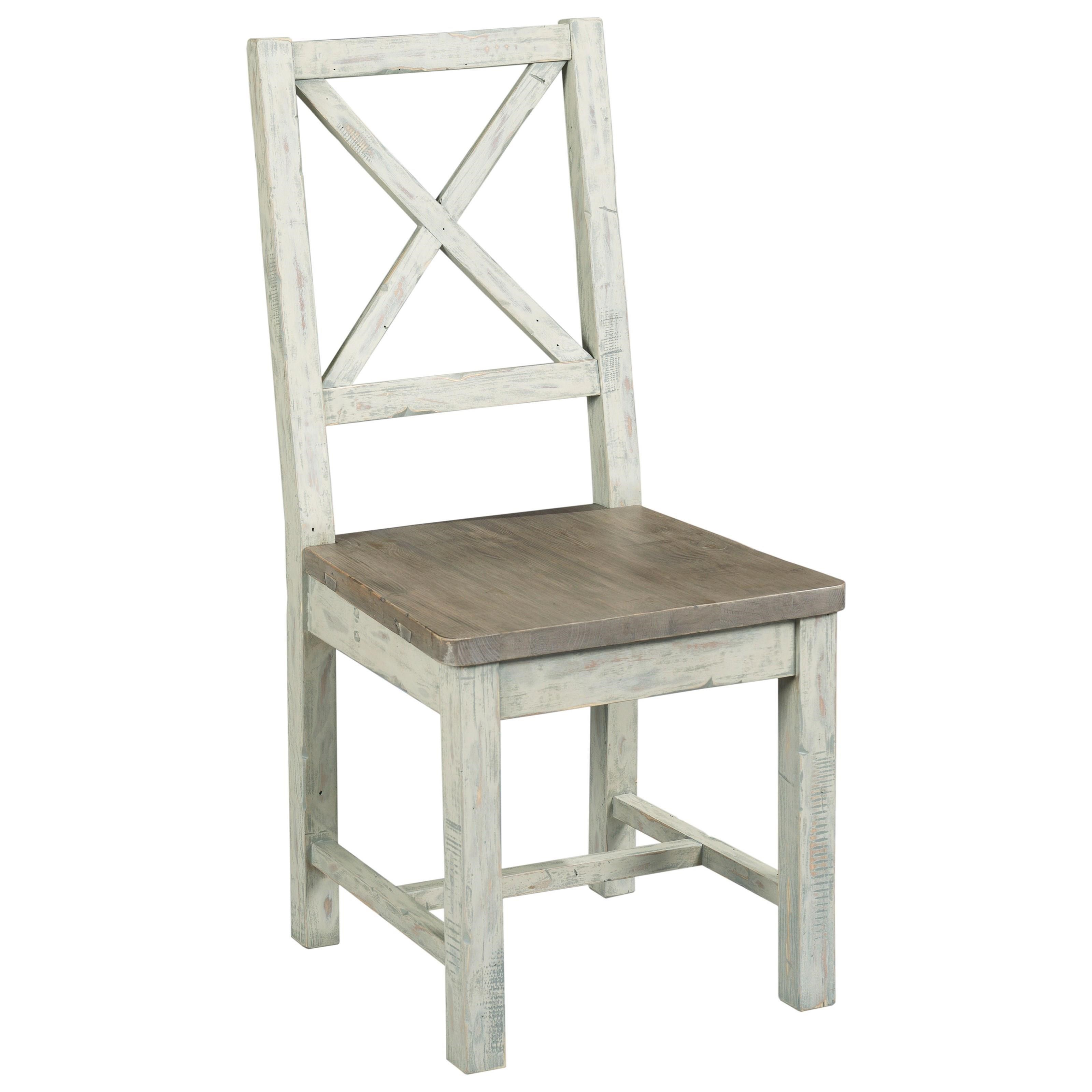 Hammary Reclamation Place Farmhouse Style Desk Chair With X Back Howell Furniture Office Side Chairs