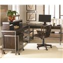 Hammary Structure Two Drawer Table Desk - Shown with Computer Desk, Hutch, Rolling File Cabinet, Corner Table, and Desk Chair
