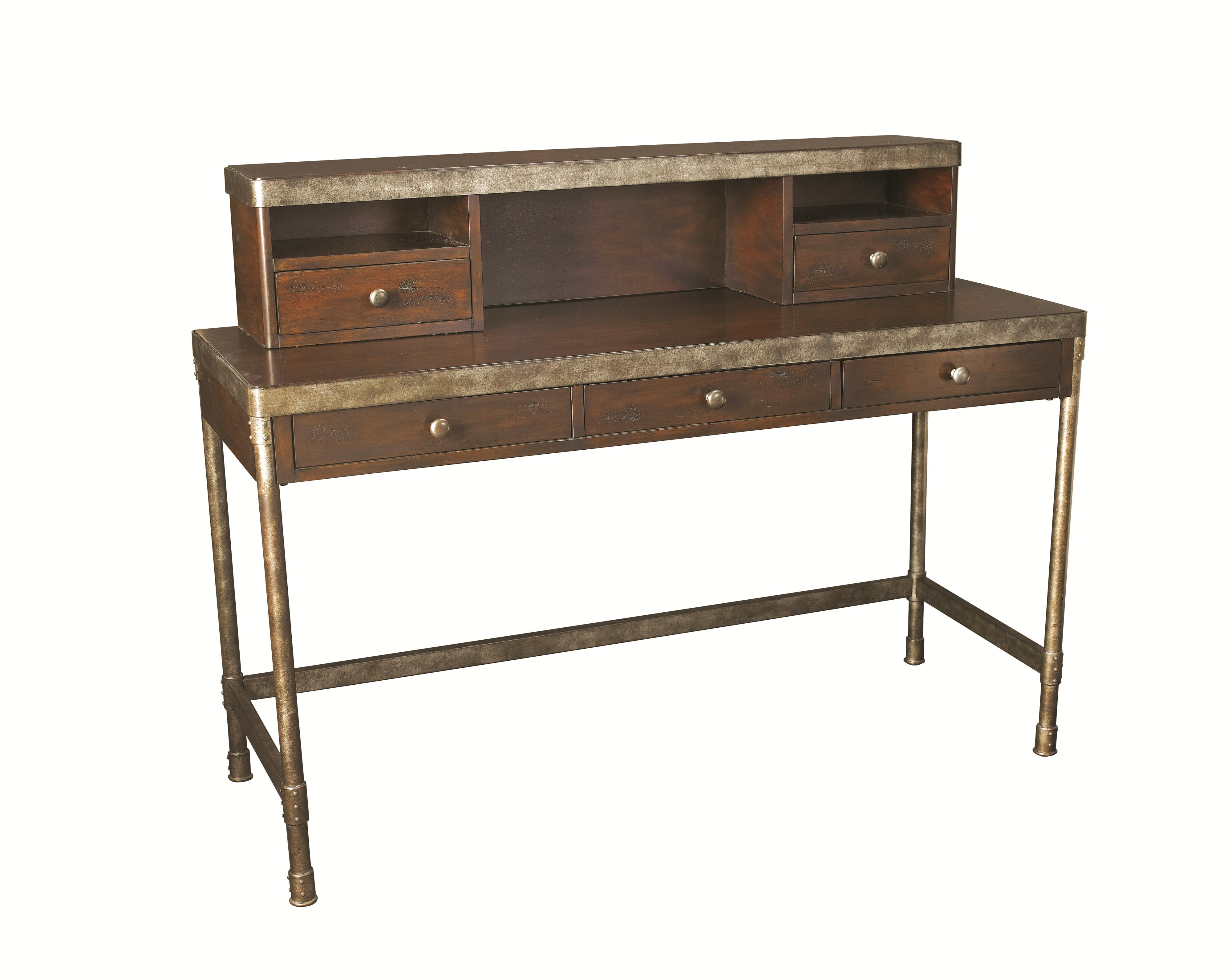 Hammary Structure Metal Computer Desk w/ Hutch | Lindy\'s Furniture ...