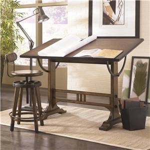 Hammary Studio Home Architect Desk and Swivel Seat