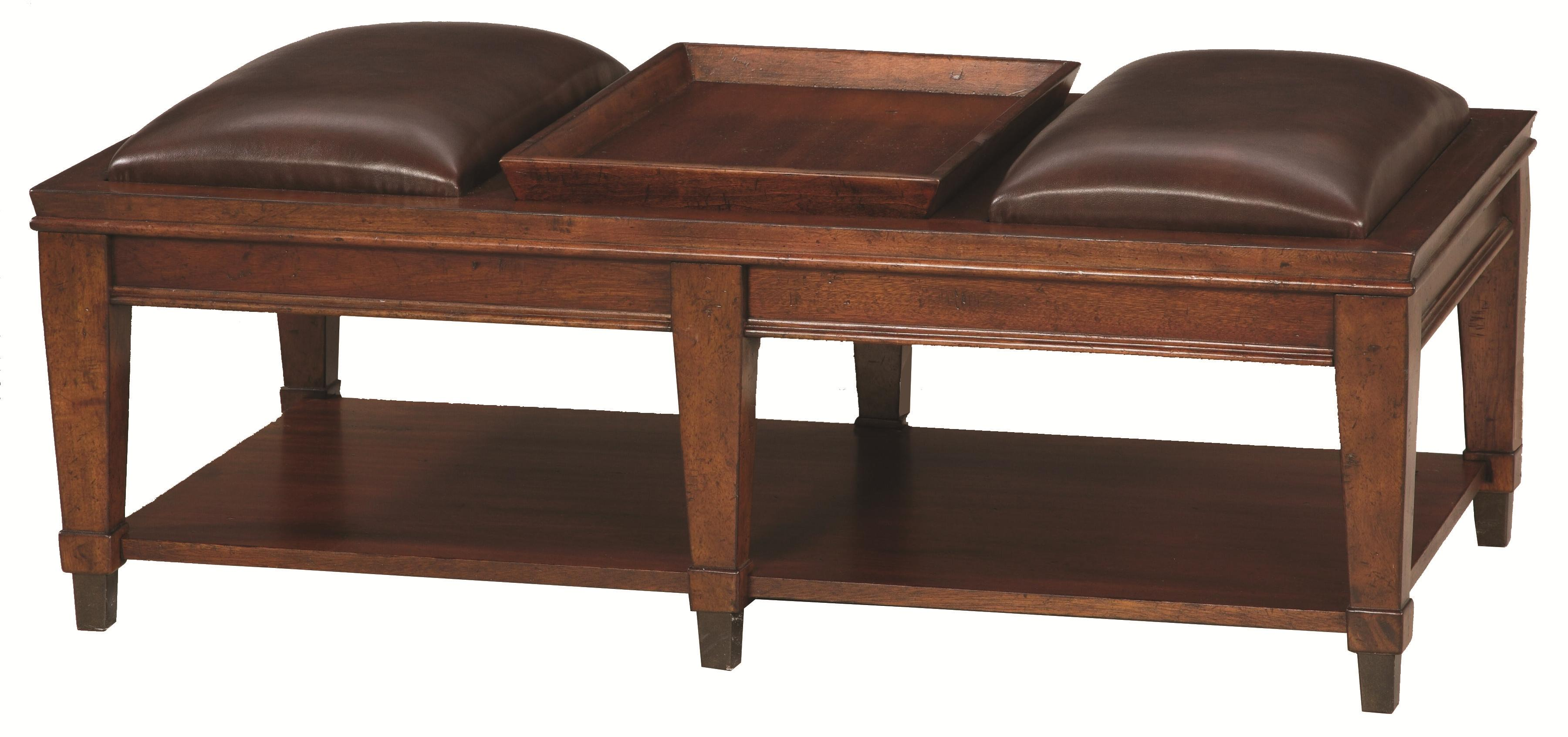 Hammary Sunset Valley Rectangular Bench Cocktail Table Wayside