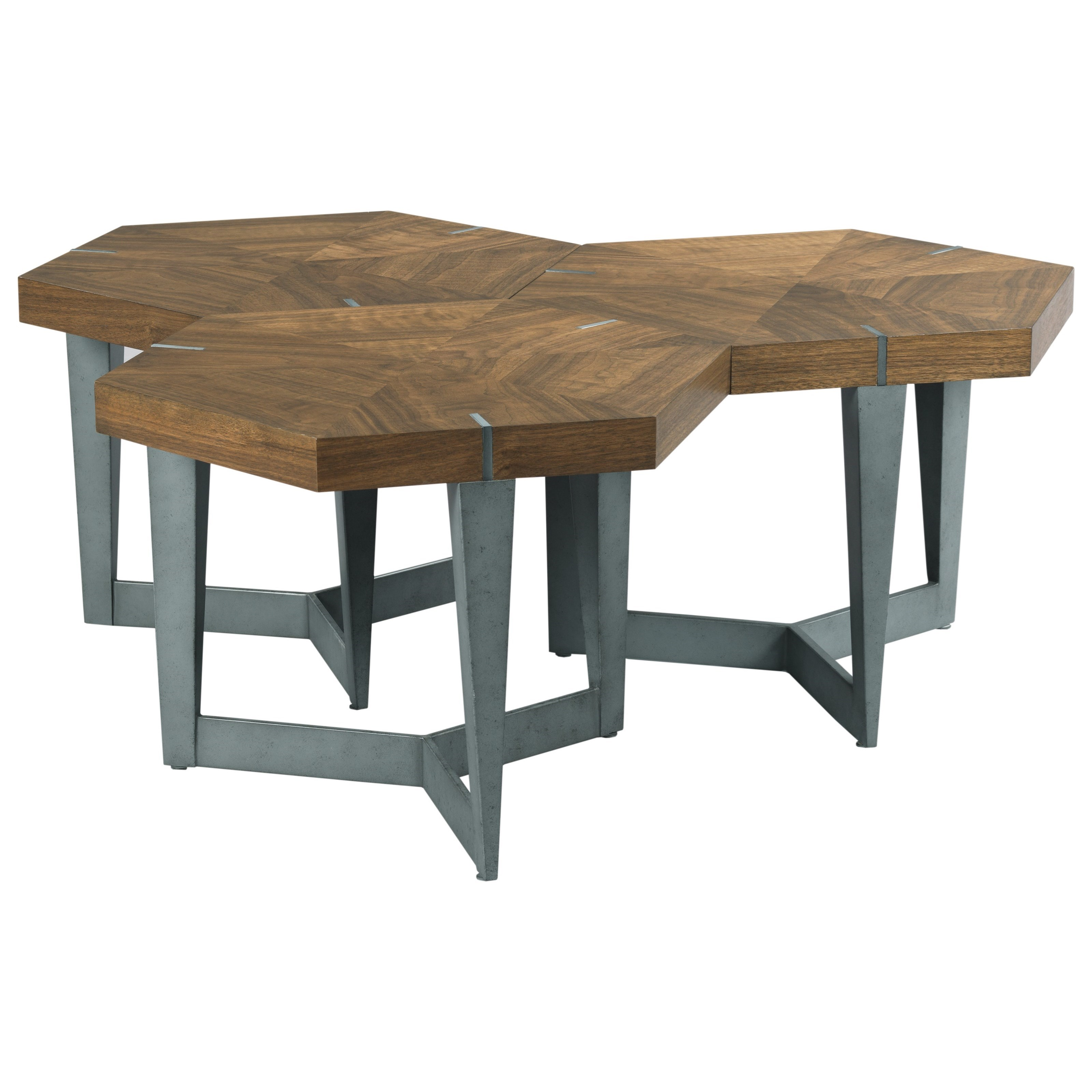 Ethan Allen Jordan Bunching Coffee Table: Hammary Synergy Contemporary Echo Bunching Cocktail Table
