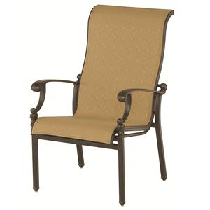 Grand Tuscany Outdoor Sling Chair with Aluminum Frame and Scroll Arms by Hanamint
