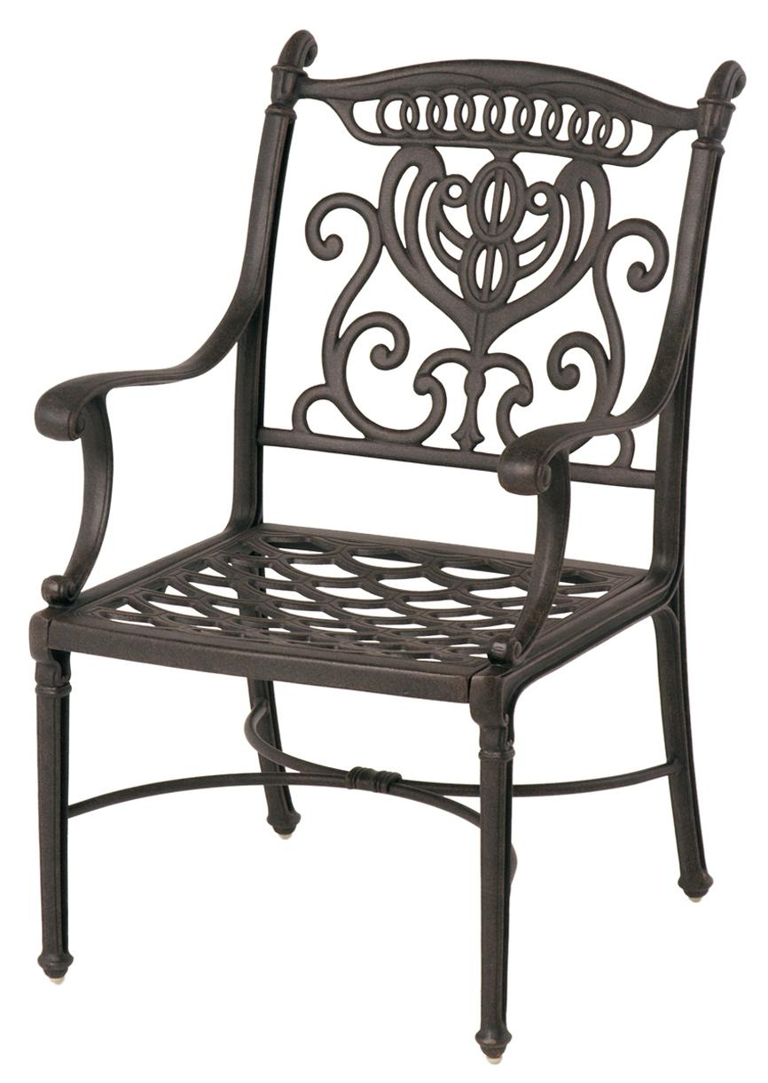 Hanamint Cast Aluminum Patio Furniture Reviews: Hanamint Grand Tuscany Outdoor Aluminum Dining Chair With