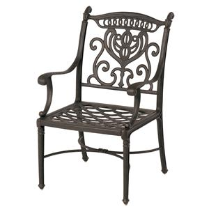 Grand Tuscany Outdoor Aluminum Dining Chair with Scroll Arms by Hanamint