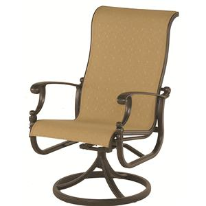 Grand Tuscany Outdoor Sling Swivel Rocker with Aluminum Frame and Scroll Arms by Hanamint