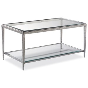 Hancock & Moore H & M Occasional Jinx Nickel Cocktail Table - Rectangle