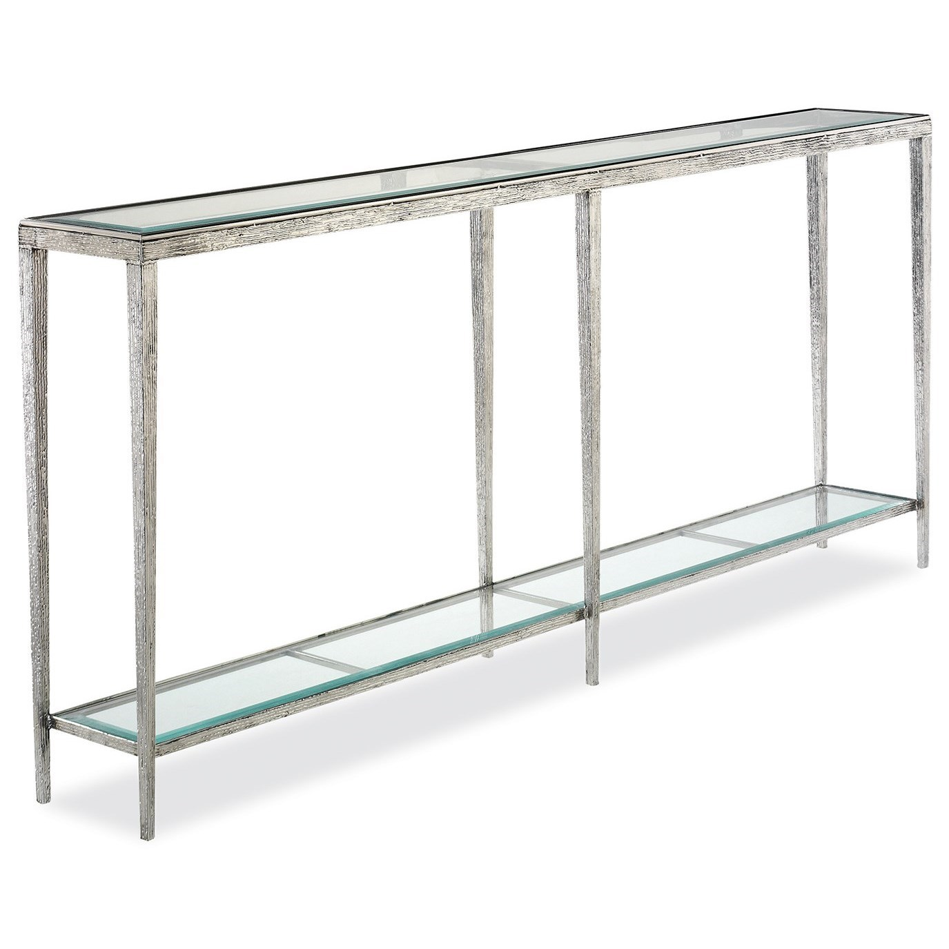 H & M Occasional Jinx Large Nickel Console Table by Hancock & Moore at Baer's Furniture
