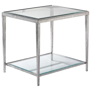 Hancock & Moore H & M Occasional Jinx Nickel Side Table - Square