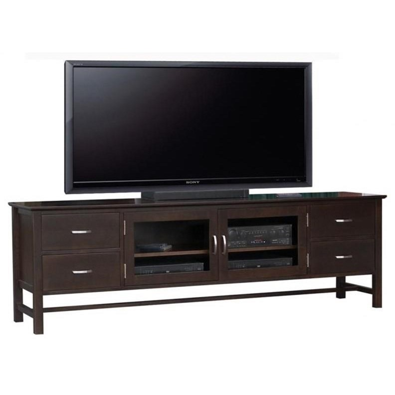 "Brooklyn 84"" HDTV Cabinet by Handstone at Jordan's Home Furnishings"