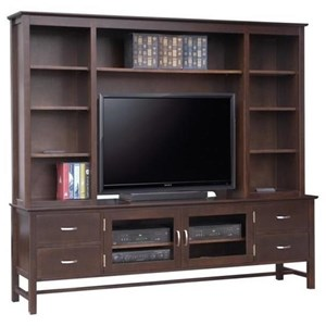 "Handstone Brooklyn 84"" HDTV Cabinet with Hutch"