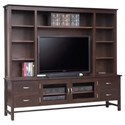 "Handstone Brooklyn 84"" HDTV Cabinet with Hutch - Item Number: P-BRHD84H"