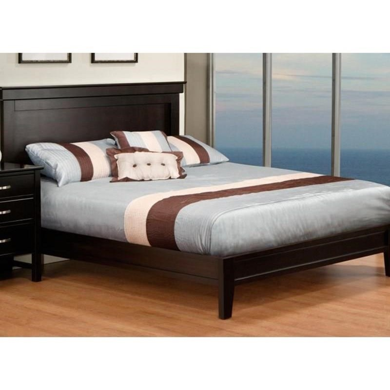 Brooklyn Queen Bed with Wraparound Footboard by Handstone at Jordan's Home Furnishings