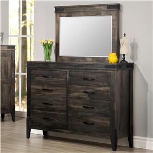Handstone Chattanooga Dresser And Mirror Set