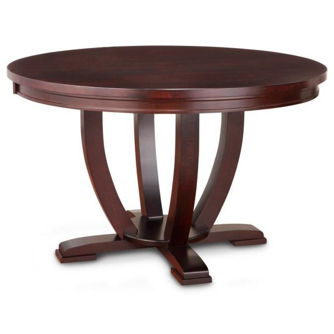"Florence 60"" Solid Top Round Dining Table by Handstone at Stoney Creek Furniture"