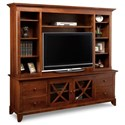 """Handstone Florence 85"""" HDTV Cabinet with Hutch - Item Number: P-FLHD84H"""