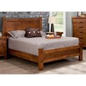 Handstone Rafters Queen Bed with Low Footboard - Item Number: N-RA-QL