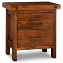 Handstone Rafters 2-Drawer Nightstand with Power Management - Item Number: N-RA12PM