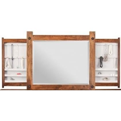 Rafters Hidden Push Open Jewelry Mirror by Handstone at Stoney Creek Furniture