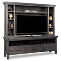 Handstone Rafters HDTV Unit with Hutch - Item Number: N-RAHD84H