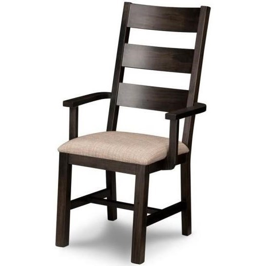 Arm Chair in Fabric or Bonded Leather