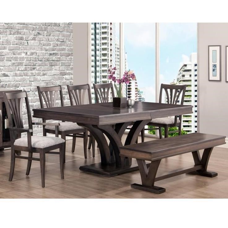 Customizable Table and Chair Set with Bench