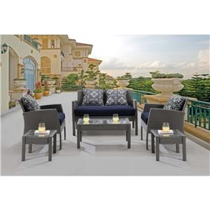 Hanover Outdoor Outdoor Furniture 6 Piece Patio Seating Set